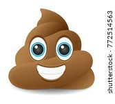 pile of poo smile emoji icon... | Shutterstock .eps vector #772514563