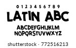 comic lettering font. vector...   Shutterstock .eps vector #772516213