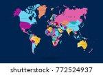 color world map vector | Shutterstock .eps vector #772524937