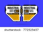 two banners options with hi... | Shutterstock .eps vector #772525657