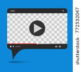 chat video frame. video player... | Shutterstock .eps vector #772532047