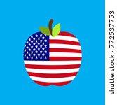 apple usa flag. america...   Shutterstock .eps vector #772537753