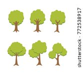 set of tree illustration vector | Shutterstock .eps vector #772538917