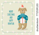 vector christmas cards with... | Shutterstock .eps vector #772539133
