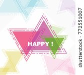 happy  beautiful greeting card... | Shutterstock .eps vector #772551007