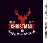 merry christmas vector text... | Shutterstock .eps vector #772553833
