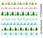 vector pattern with christmas... | Shutterstock .eps vector #772554283
