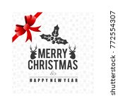 merry christmas typography... | Shutterstock .eps vector #772554307