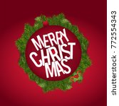 christmas greetings card with... | Shutterstock .eps vector #772554343