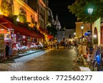 typical night view of cozy... | Shutterstock . vector #772560277
