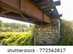 Old Stone Pylon Of The Railway...