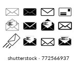 letter envelope icon collection ...   Shutterstock .eps vector #772566937