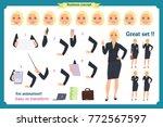set of businesswoman character... | Shutterstock .eps vector #772567597