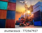 logistics and transportation of ... | Shutterstock . vector #772567927