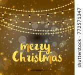 christmas greetings card vector ... | Shutterstock .eps vector #772571347