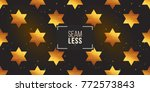 gold polygonal shape  david... | Shutterstock .eps vector #772573843
