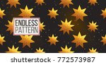 gold polygonal shape  star and... | Shutterstock .eps vector #772573987