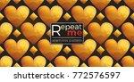 gold polygonal shape  rhombus ... | Shutterstock .eps vector #772576597