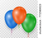 blue orange and green helium... | Shutterstock .eps vector #772580023