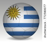 soccer ball in the colors of...   Shutterstock .eps vector #772580077