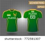 t shirt sport design front and... | Shutterstock .eps vector #772581307