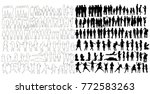 collection of silhouettes of... | Shutterstock .eps vector #772583263