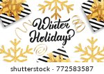 christmas. background for...   Shutterstock .eps vector #772583587