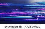 abstract musical equalizer... | Shutterstock . vector #772589437