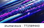 abstract musical equalizer... | Shutterstock . vector #772589443