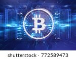 crypto currency bitcoin. net... | Shutterstock . vector #772589473