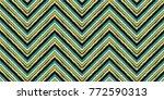 seamless geometric zig zag... | Shutterstock .eps vector #772590313