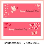 holiday banners with symbols... | Shutterstock .eps vector #772596013