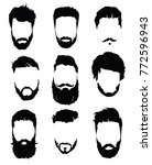 set of hairstyles for men.... | Shutterstock .eps vector #772596943