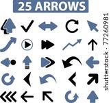 25 arrows icons  signs  vector | Shutterstock .eps vector #77260981
