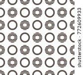 geometric line monochrome... | Shutterstock .eps vector #772609933