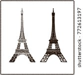 eiffel tower isolated vector... | Shutterstock .eps vector #772613197