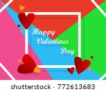 happy valentine's day... | Shutterstock .eps vector #772613683