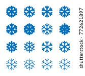 snowflakes signs set. blue... | Shutterstock .eps vector #772621897