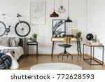 monochromatic open space...   Shutterstock . vector #772628593