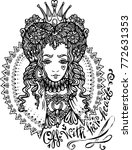 red queen of hearts coloring... | Shutterstock .eps vector #772631353