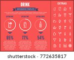 drink infographic template ... | Shutterstock .eps vector #772635817