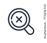 magnify icon. isolated search...