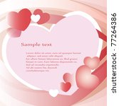pink heart background | Shutterstock .eps vector #77264386