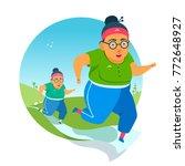 active elderly couple doing... | Shutterstock .eps vector #772648927