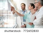 medical team meeting to talk... | Shutterstock . vector #772652833