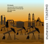 oil pumps and rigs at large... | Shutterstock .eps vector #772653943