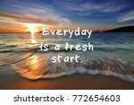 life inspirational quotes  ... | Shutterstock . vector #772654603