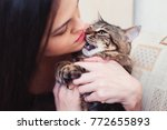 relationship with a pet   Shutterstock . vector #772655893