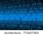 binary circuit board future... | Shutterstock .eps vector #772657303