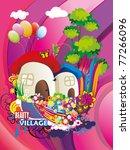 fantasy house vector... | Shutterstock .eps vector #77266096